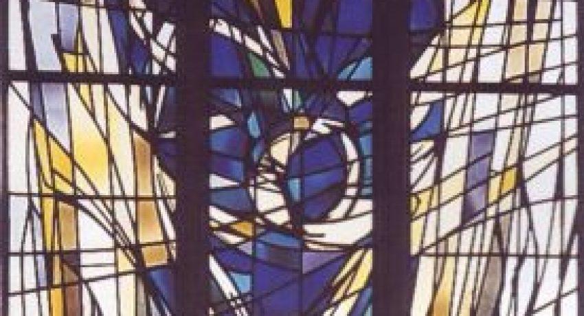 1964, Hagen, Ruhrgebiet, NRW, Kath. Kirche St. Marien, Egbert Lammers © Wissenschaftsverlag für Glasmalerei GmbH